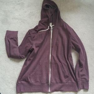 Maroon zip up hoody